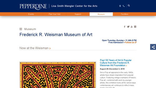 Field trip to Frederick R. Weisman Museum of Art