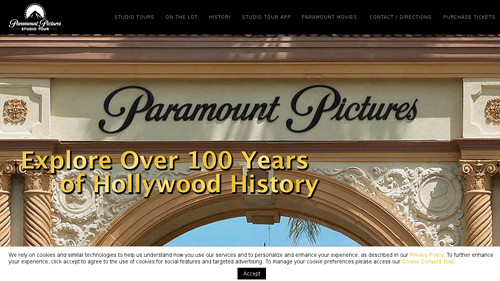 Field trip to Paramount Pictures Studio Tour