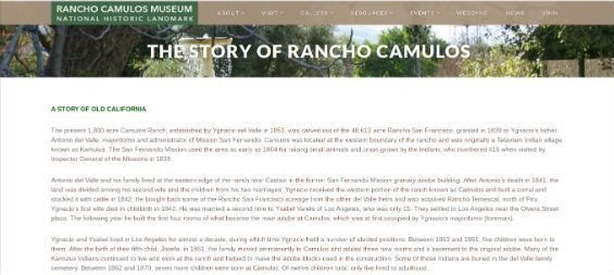 Field trip to Rancho Camulos Museum & National Historic Landmark